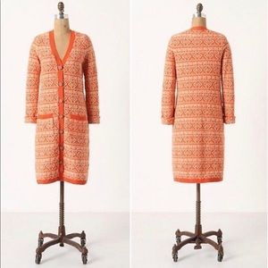 Jacquard Sweater Coat